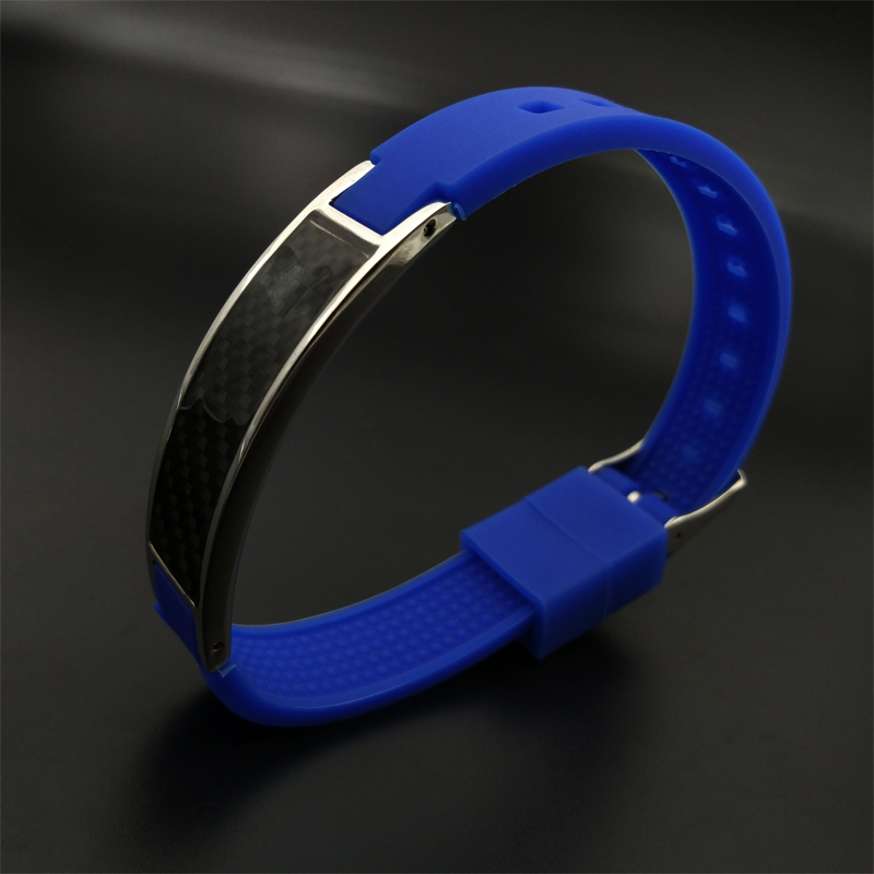 2017 hot energy single product negative ion far infrared germanium magnetic four-in-one silicone bracelet