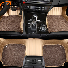 AutoDecorun Custom Fit PVC Leather Car Floor Mats For Lincoln MKX MKZ MKC MKT Car Mat durable Interior Accessories Auto Carpets(China)