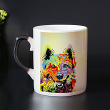 High Quality Bone china dog mug color changing magic mugs cup Tea coffee mug cup zombie cups best gift for friends
