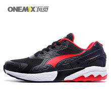 onemix brand sport shoes men's women's running shoes sneakers suede upper breathable comfortable athletic shoes