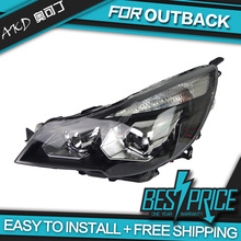 AKD Car Styling Head Lamp for Outback 2010-2015 Headlights LED Headlight ANGEL EYES DRL Bi-Xenon Lens HID Automobile Accessories