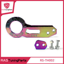 Universal BENEN Rear Tow Hook laser-engraved logo Rear Trailer Hook NEO Chrome RS-TH002()