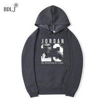 BDLJ 2017 fashion JORDAN 23 moletom masculino hoodies men sweatshirts men Hip Hop Streetwear solid fleece hoody man Clothing(China)