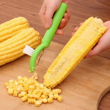 Stainless Steel Corn Plane With Brush Creative Practical Sharp Blade Cutter Kitchen Tool 1 Piece K230(China)