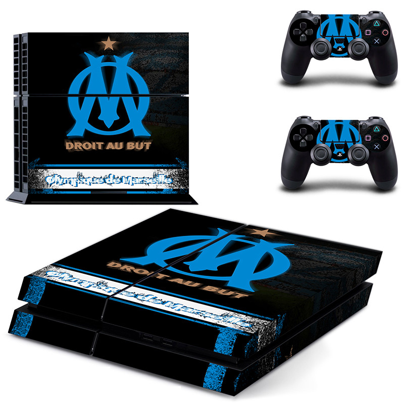 Olympique de Marseille droit au PS4 SKin Sticker Sony PlayStation 4 Console Controllers Dualshock 4 Skin Sticker