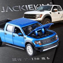 High quality high simulation 1:34 alloy pull back car,Ford F150 Raptor truck,metal cars toys,free shipping