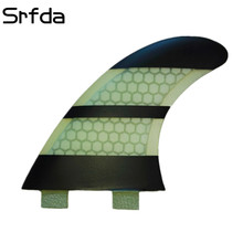 srfda free shipping FCS -G5 surfboard fins with fiberglass honey comb material rainbow color SURF fins (three-set)(China)