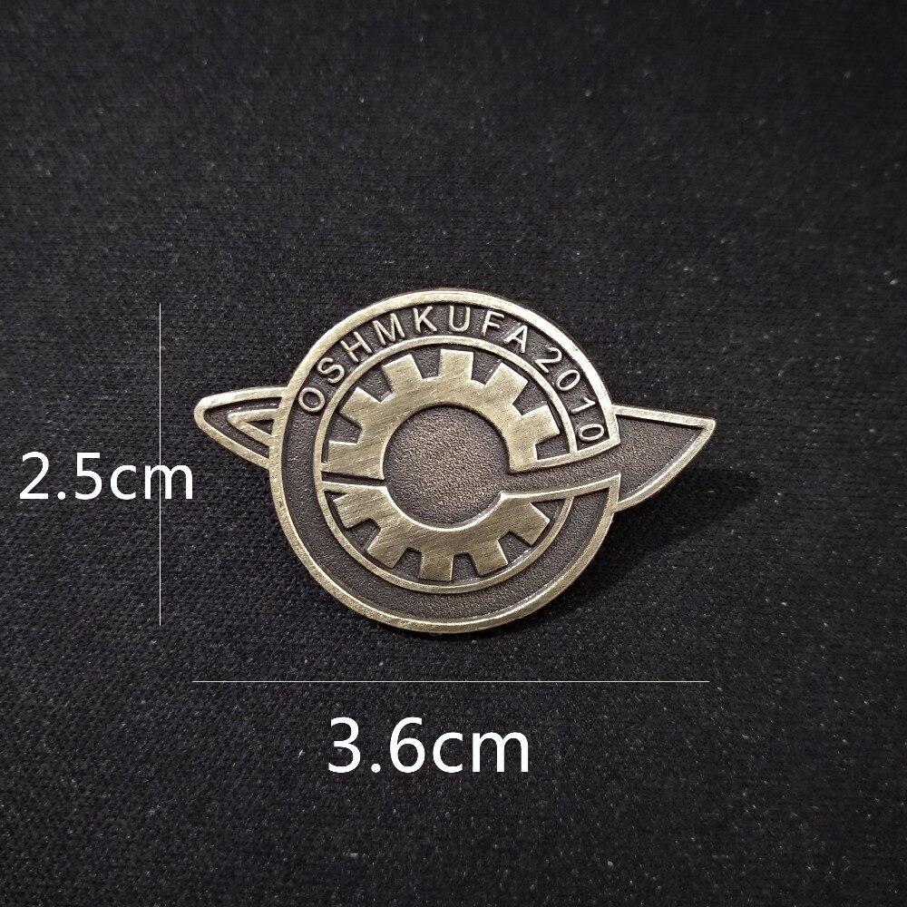 Anime Steins;Gate Badge Makise Kurisu labmen Lapel Badges Pin Brooch Cosplay7