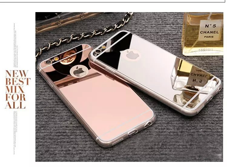 Newest For Iphone 6 Accessories Discounted TPU Soft Gold Mirror Case for iphone 6 6S 5 5S 6Plus Phone Cases Wholesale(China (Mainland))