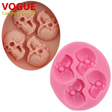 DIY Skeleton Head Skull Silicone Mold Styling Candy Jelly Mould Fondant Cake Decorating Pastry Baking Tools N1968