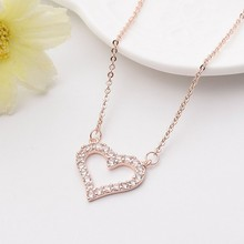 Fashion Jewellery Heart Pendant Necklaces Maxi Statement Necklace 2017 New Jewelry Custom Design