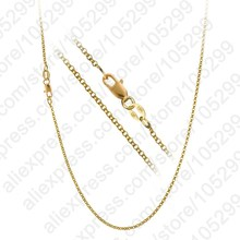 "PATICO 1PC Nice Accessories Findings 16""-30"" Necklace Chains O Genuine   Gold Filled Link Rolo Chain+Lobeter Clasp Pendant Cheap"