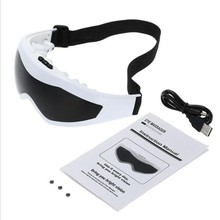 NULALA 818 Eye Massage Glasses USB Mask Relaxation Glasses Electric Vibration Release Alleviate Fatigue Eye Massager #2509(China)