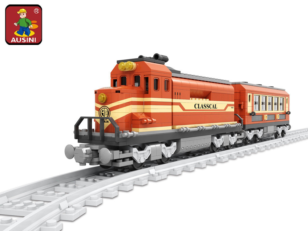 AUSINI 2017 New 25902 Train building blocks train 630pcs Train Bricks Blocks childrens educational toys brinquedos DIY<br>