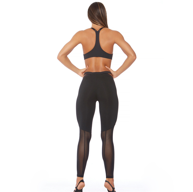 2017 Mesh Patchwork, 2 Pieces Hollow Women Clothing, Tracksuit Crop Top And Leggings 7