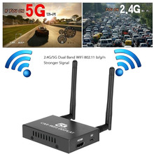 Car WiFi Display Dongle Receiver TV Stick 5G/2.4G Linux System Airplay Mirroring Miracast Ezcast Chromcasat Airsharing 1080PHDMI