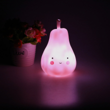ITimo LED Pear Light Eyes Protection Gift for Children Pink Home Decoration Indoor Lighting Night Light Cute Table Lamp