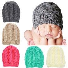 De lana de algodón de moda cálida bebé niño niña de punto sombrero de  invierno Bebé sombrero nuevo bebé recién nacido lindo de a. 82d0b5176cd