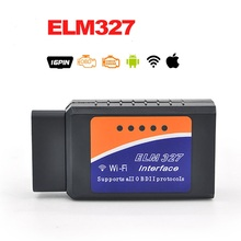 Latest Version V1.5 ELM327 WIFI OBD2 / OBDII Auto Diagnostic Scanner Tool Diagnostic Tool  Compatible Smartphone With CD
