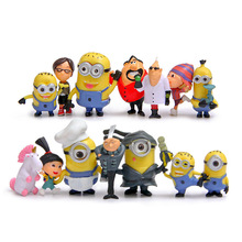 (14pcs/lot) Me Miniature Figurines Toys Cute Lovely Model Kids Toys 6.7cm PVC Anime Children Figure 170721