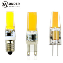 Mini LED G4 COB Lamp G9 E14 COB Bulb  ACDC12V AC220V/110V 3W 6W 9W LED Lighting  Super Bright LED Bulb Replace Haogen Chandelier