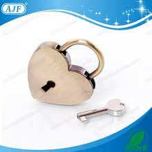 Russia AJF Antique sweep newest popular valentine's gift of heart shaped padlock with key chain ,LOVE LOCK ,