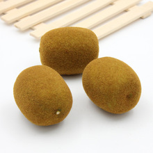 2PCS 6.4CM Artificial Simulation Kiwi fruit fruit Vegetables Kindergarten Garden Family Kitchen Decoration Handwork DIY Fruit