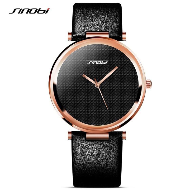 SINOBI fashion leather sports quartz watch for man military chronograph wrist watches men army style 2017 free shipping<br><br>Aliexpress