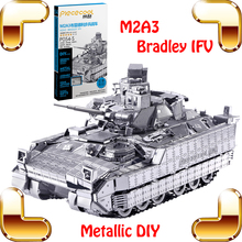 New Coming Gift M2A3 Bradley IFV Military Army Car 3D Metallic Model Vehicle Combat Tiny Delicate Tank Collction Decoration Toys