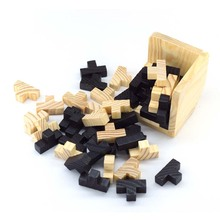 Baby Asymmetrical Cube toy cool Educational Learning Wood Puzzles Cube For Kids Brain Teaser 3D Russia Wooden Baby Toy Children