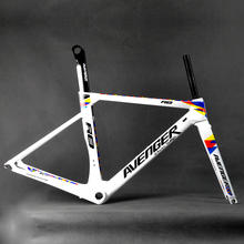 Avenger R8 Style Carbon Aero Frame Road Bike Bicycle Frameset 47cm BSA White Gloss Painting UAM Official Store(China)