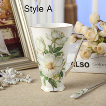 Chinese Large-Capacity High-Quality Bone China Mug Chaozhou Ceramic Coffee Cup, Creative Lovely Upscale Cup Free Shipping(China)