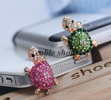 Fashion Style 3.5mm Cute Turtle Shape Design Mobile Phone Ear Cap Dust Plug For Iphone For Samsung Dust Plug(China)
