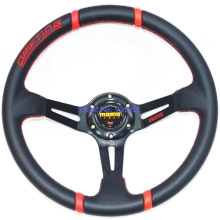 350mm 14 inch Deep Dish MOMO Drifting Racing Steering Wheel PVC Drifting Tuning Car MOMO Wheels