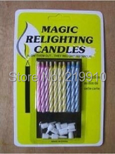 Free shipping 2 pcs/order Magic Relighting Candles (1 pack of 10)- Close Up Magic/Magic Trick(China)