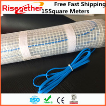 15M2 Comfortable and Health Floor Warming System Single and Double Core 150W Electric Intelligent Flexible Floor Heating Mat(China)