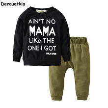 New 2017 autumn baby boy clothing set cotton long sleeve t-shirt+pants fashion baby boys clothes infant 2pcs suit kids outfits