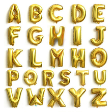 16 Inch Large gold Letter air balloon character aluminum foil globo Party Supplies wedding Birthday grapheme airballoon balon &