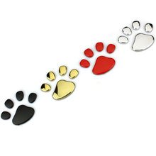 Bear Footprint Steps 3D Metal Car Auto Motorcycle Logo Totem Emblem Badge Sticker Silver Gold Black DIY NEW 4 Colors Car-Styling