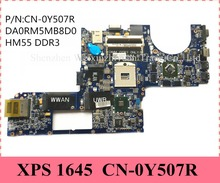 CN-0Y507R For DELL XPS Series 1645 Laptop Motherboard Mainboard DDR3 DA0RM5MB8D0 Y507R Support I7 CPU 100% Tested