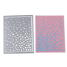 New Metal Steel 108*136.5mm Heart border Frame Cutting Dies Stencil For DIY Scrapbooking Album Paper Card Photo Decorative Craft