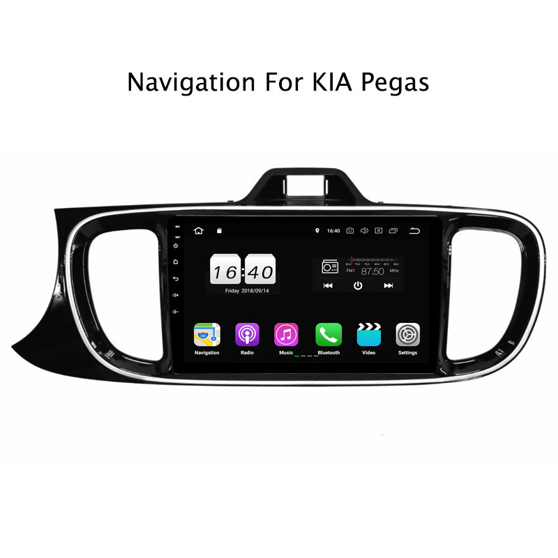 "9"" 2G RAM 16G ROM Android 8.1 Car DVD Multimedia Player For Kia Pegas GPS Navigation Radio Stereo Audio"