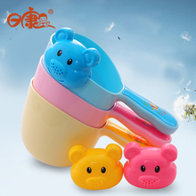 Buy Baby Shower Bath Toy Children Shampoo Scoop Water Spoon Baby Bath Shampoo Cup Bear Shampoo Water Scoop Water Toys for $8.39 in AliExpress store