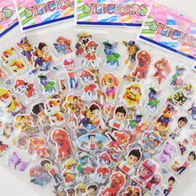 % 3 sheets/lot Paw Patrol for Children Dog patrol Pet Patrol Kids Stickers Toys Bubble stickers Teacher Lovely Reward Sticker