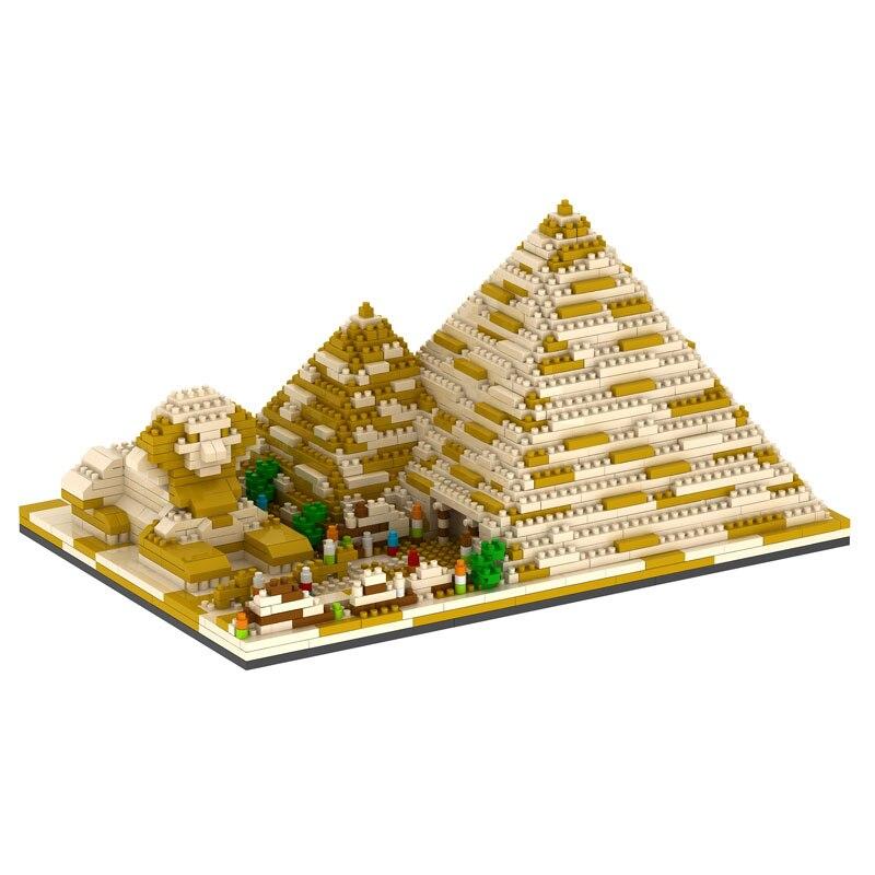 Building Block 1456pcs Pyramid Model Children Compatible Toy 3D Bricks Plastic Larger Building Block Assembly Gift Toy<br>