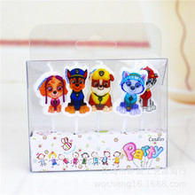 5pcs/lot 18*8.5*3cm Pawed Patrolling Dog Candles Kids Birthday Party Supplies Baby Shower Cake Candle Decoration Party Favors