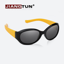 JIANGTUN Top Quality Baby Boys Girls Fashion Brand Kids Sunglasses Fit 3-12 Year TR90 Polarized Children Glasses Fashion Oculos(China)