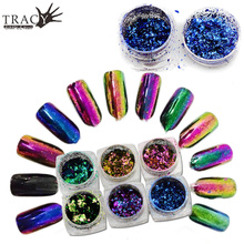 0.2/Box 2017 Nail Art Glitter Powder Chameleon Effect Gorgeous Shiny Paillettes 3d Nail Decor Starry Sky Accessory TRBS01-06