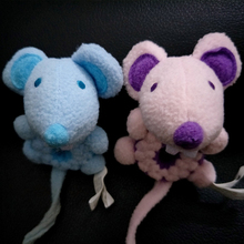 1 Pc Mini Mouse Finger Hand Pink Blue Grey Stuffed Animals Kids Plush Baby Toys for Children Birthday Chirstmas Gifts(China)