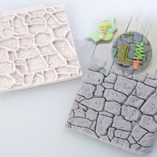 Stone Rock Rocky Decoration Fondant Cake, 3D Cake Tool, DIY Food Grade Silicone Cake Mold, Handmade Candy, Sugar Mould